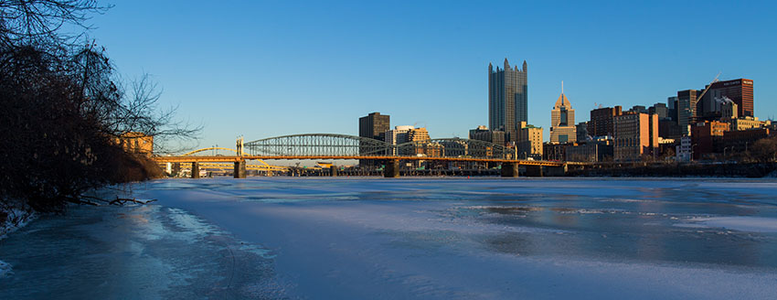 Pittsburgh Winter Skyline